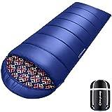 KingCamp Superior 400 XL Deckenschlafsack mit Kopfteil Übergroß, (200 + 30)...