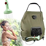 KIPIDA Solardusche Outdoor, 20L Campingdusche Solar Wassersack Heizung Camping...