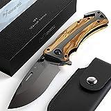 BERGKVIST® Klappmesser K29 Titanium 3-in-1 Taschenmesser I Einhand-Messer mit...