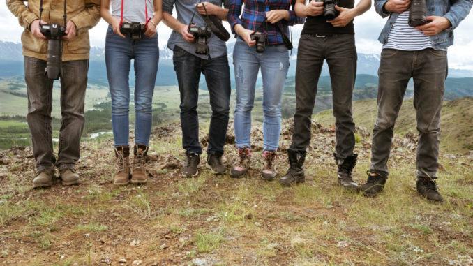 Gruppe geht Wandern